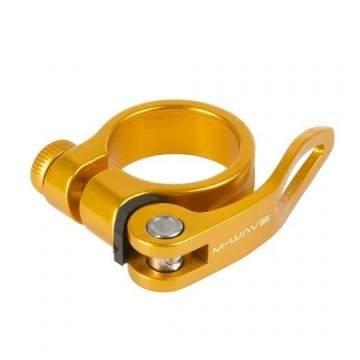Abraçadeira Selim M-Wave 31.8 QR Dourado