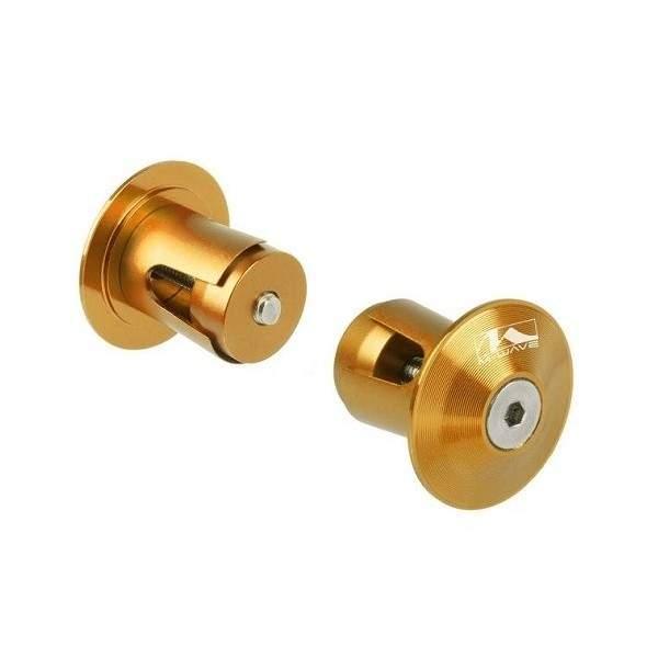 M-Wave Handlebar End Caps Gold