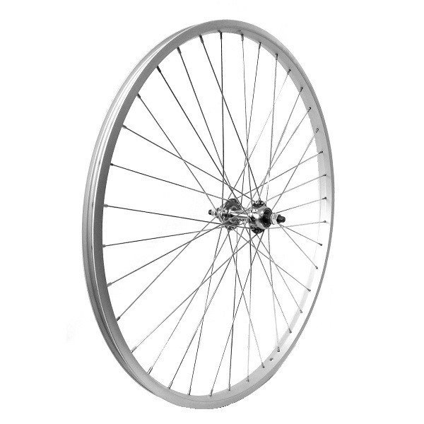 "Gurpil Rear Wheel 26"" - 1 3/8 Silver 6-7v"