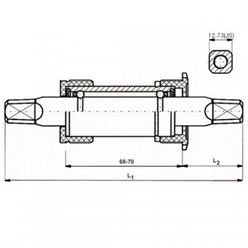 Neco Bottom Bracket 68 - 122.5mm