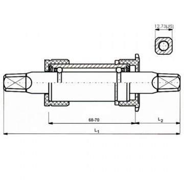 Pedalier Neco 68 - 122.5mm