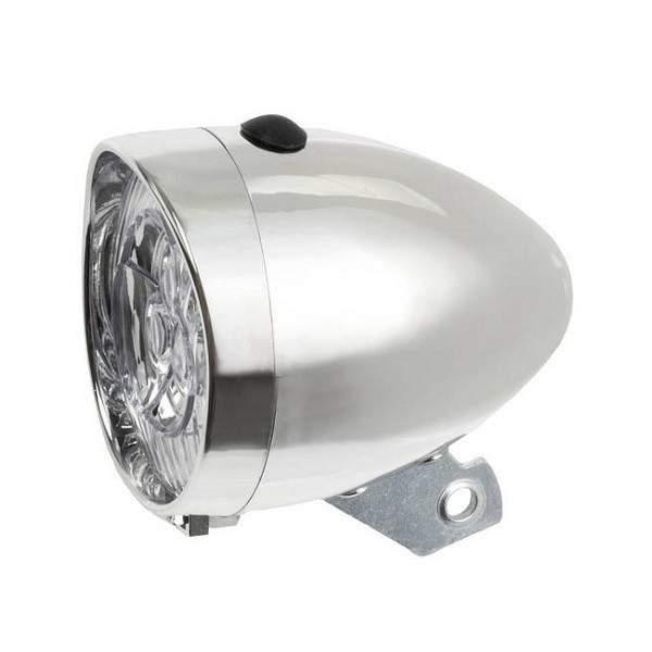 Head Lamp Classic Kurven Silver 3 Leds