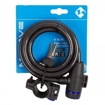 M-Wave Spiral Cable Lock 10 * 1800mm