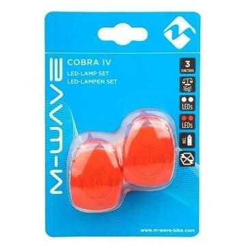 Pair Leds M-Wave Cobra Red Set